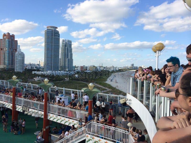 Miami Beach y travesía de NCL fotos de archivo libres de regalías