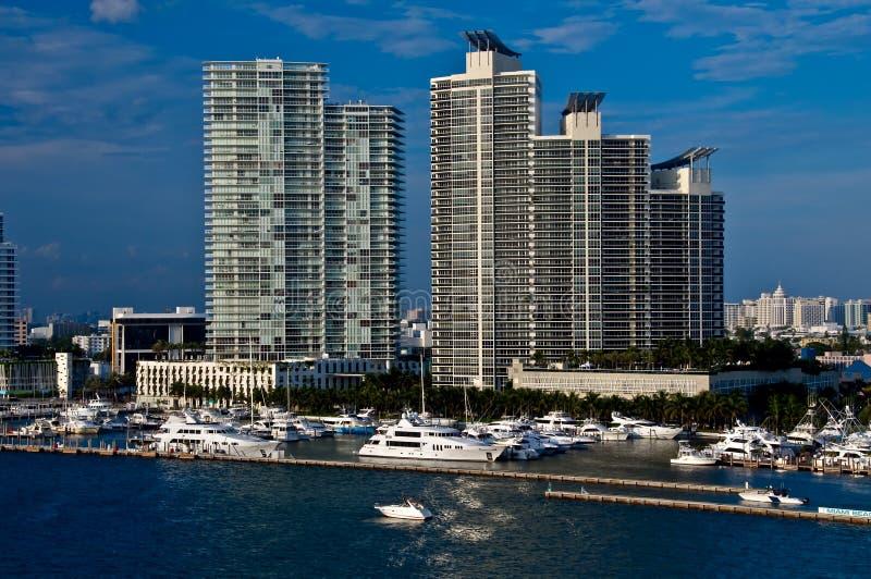 Miami- Beachjachthafen stockfoto