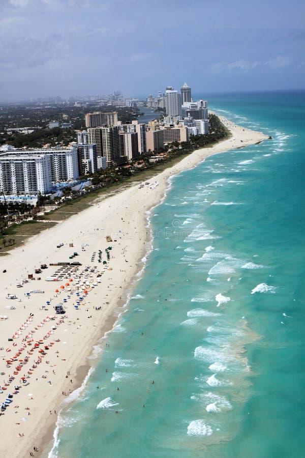 Miami- Beachküstenlinie lizenzfreie stockbilder
