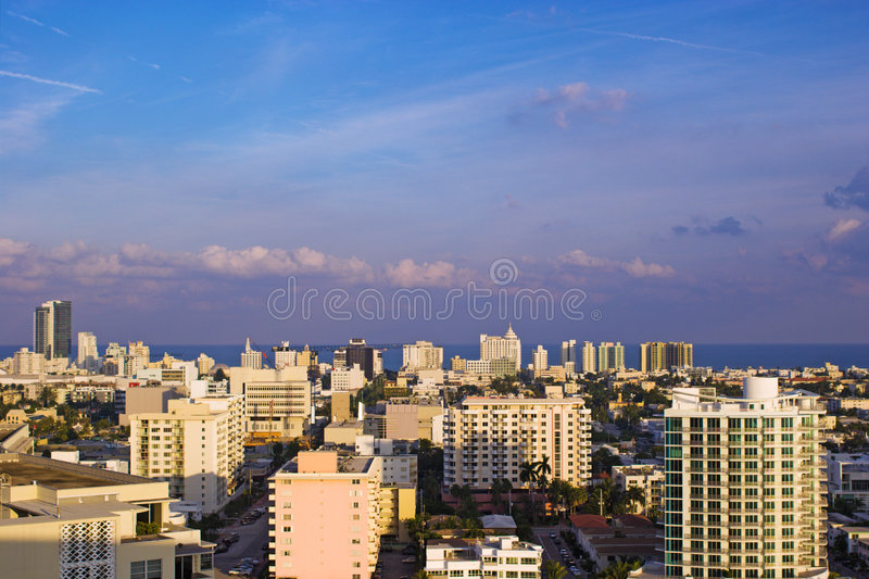 Miami- BeachSkyline lizenzfreies stockfoto
