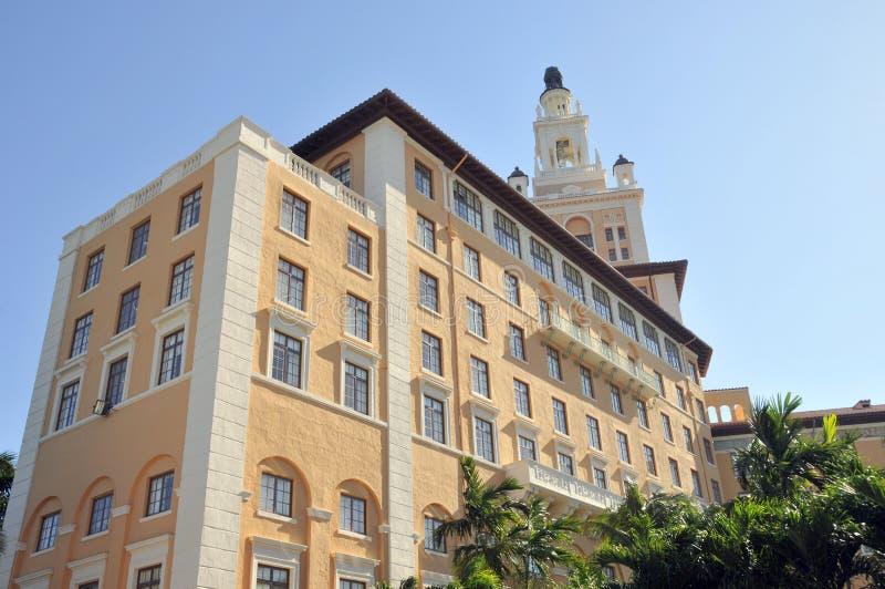 Miami Biltmore Hotel. MIAMI FLORIDA USA 10 29 2012: Miami Biltmore Hotel is a luxury hotel in Coral Gables, Florida, United States. Miami Biltmore Hotel & stock photography
