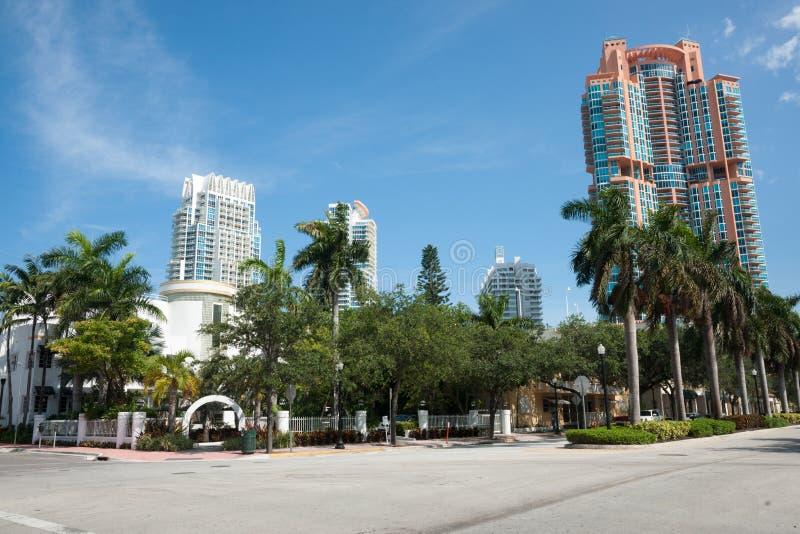 Download Miami buildings. stock photo. Image of copy, resort, tourist - 26082704