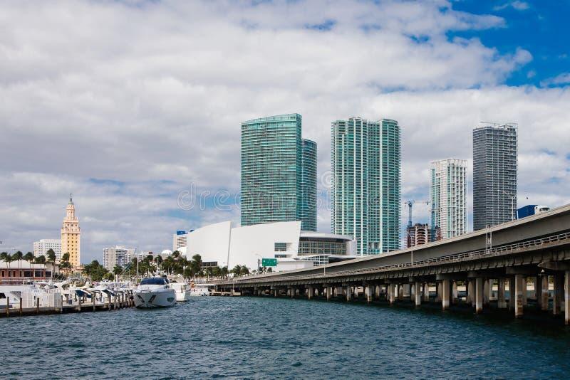 Miami céntrica fotografía de archivo