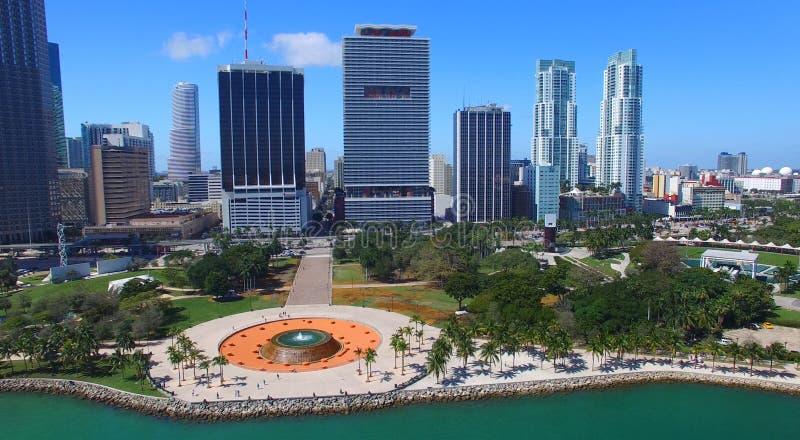 Miami céntrica, la Florida Visión aérea asombrosa fotografía de archivo libre de regalías