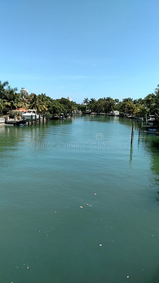 Miami canal royalty free stock image