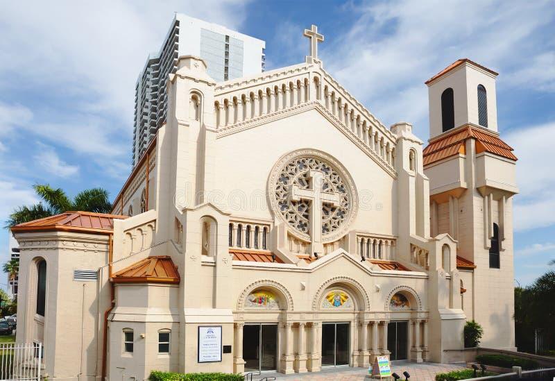 Miami Catedral episcopal de la trinidad santa imagen de archivo libre de regalías