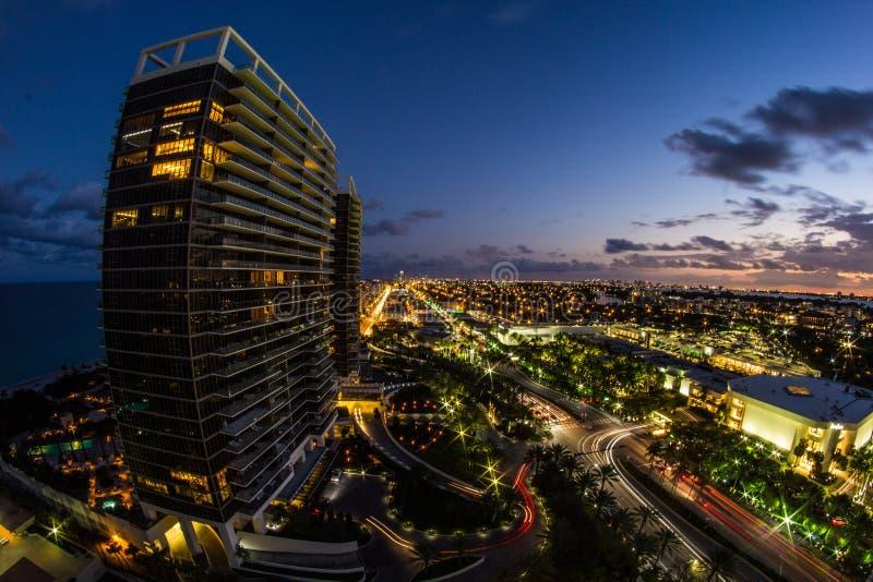 Miami City Shot royalty free stock photo
