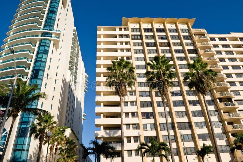 Miami condominiums stock photo