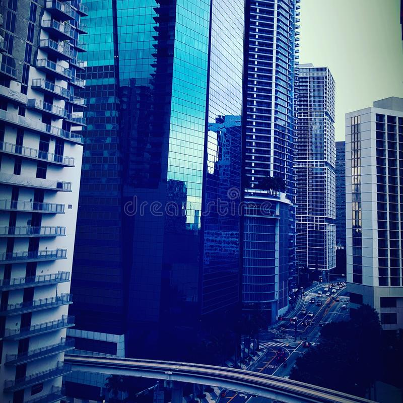 Miami da baixa foto de stock royalty free