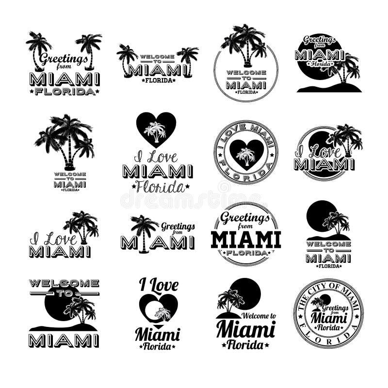 Miami design vektor illustrationer