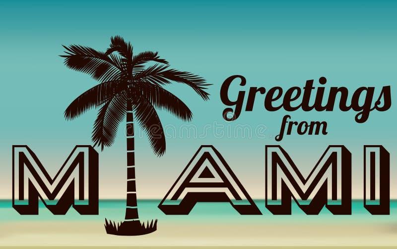 Miami design royaltyfri illustrationer