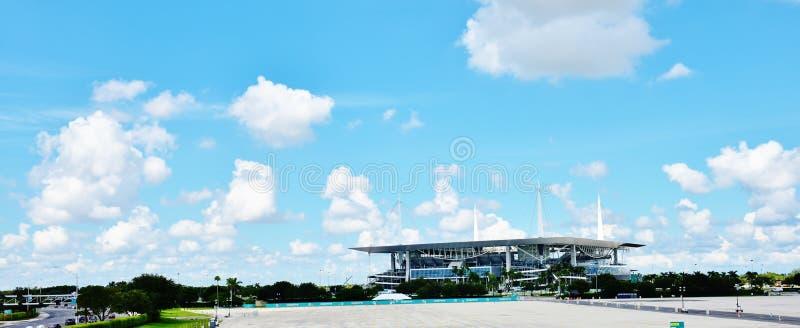 Miami dolphins nfl renovared stadium royalty free stock photo