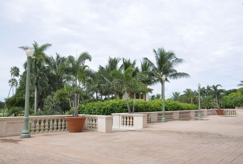 Miami, el 9 de agosto: Balcón del hotel Biltmore y del club de campo de Coral Gables de Miami en la Florida los E.E.U.U. fotos de archivo libres de regalías
