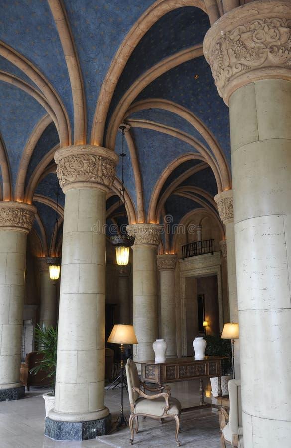 Miami, el 9 de agosto: Interior del hotel Biltmore y del club de campo de Coral Gables de Miami en la Florida los E.E.U.U. imágenes de archivo libres de regalías