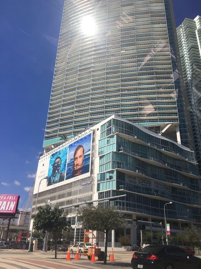 Miami-Finanzbezirk lizenzfreie stockfotos