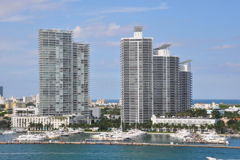 Miami in Florida stock afbeelding