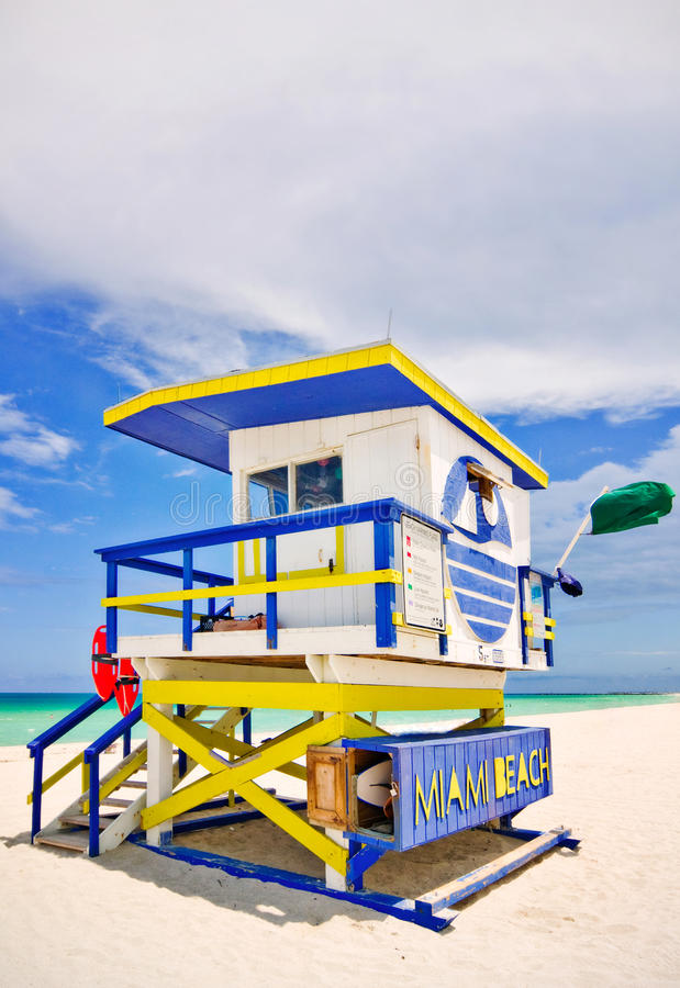 Download Miami Florida beach rescue stock image. Image of colorful - 20127673