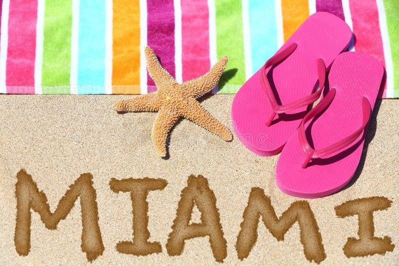 Download Miami, Florida Beach Travel Background Stock Image - Image: 37810593