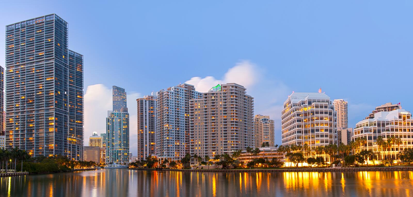 Miami Florida, Brickell and downtown financial buildings royalty free stock images