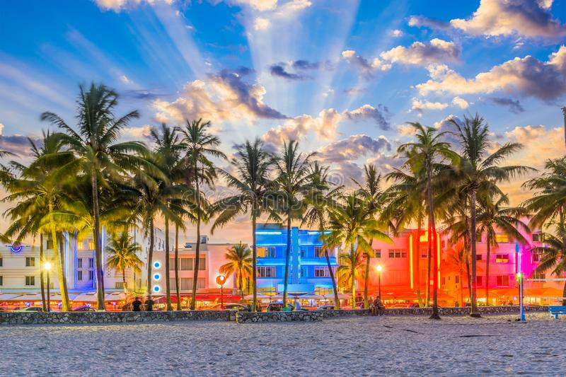 Miami Florida de V.S. stock fotografie