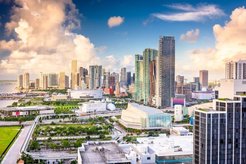 Miami, Florida, de V.S. de stad in stock foto's