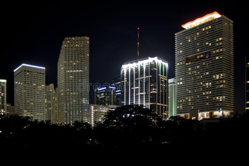 Miami downtown at night royalty free stock photo