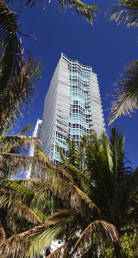 Miami Florida hotel stock image