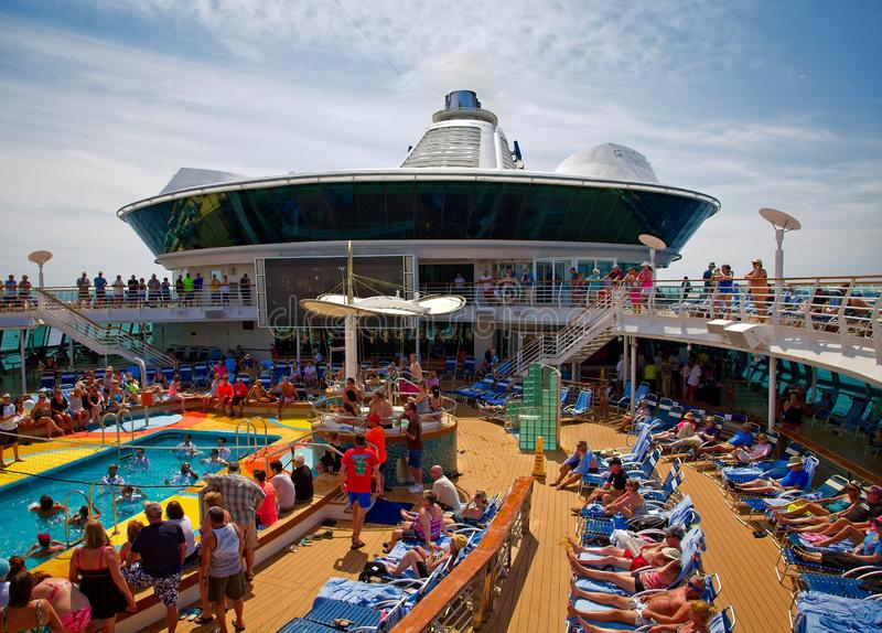 Cruise Ship Pool Deck stock photos