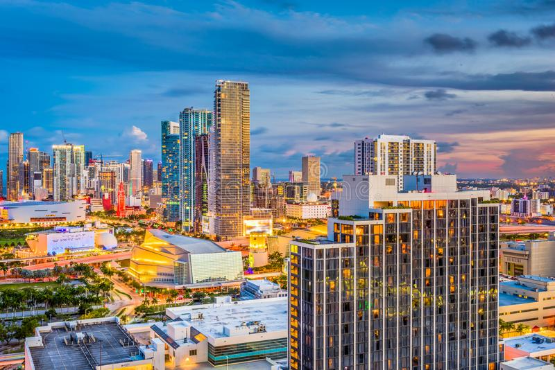 Miami, Florida, USA Skyline royalty free stock images