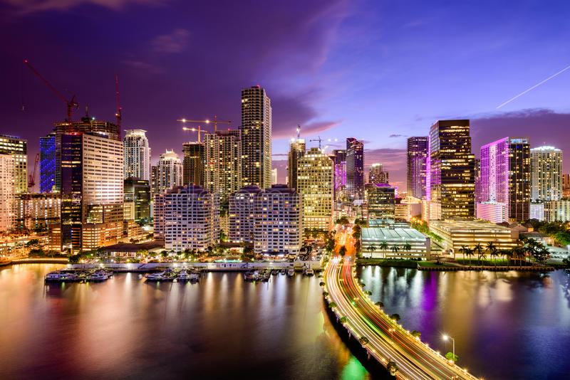 Miami, Floryda linia horyzontu obraz royalty free