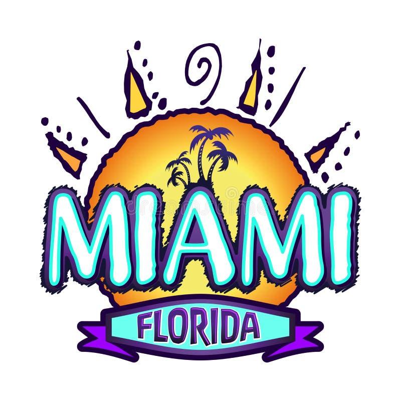 Miami Floryda - wektorowa odznaka royalty ilustracja
