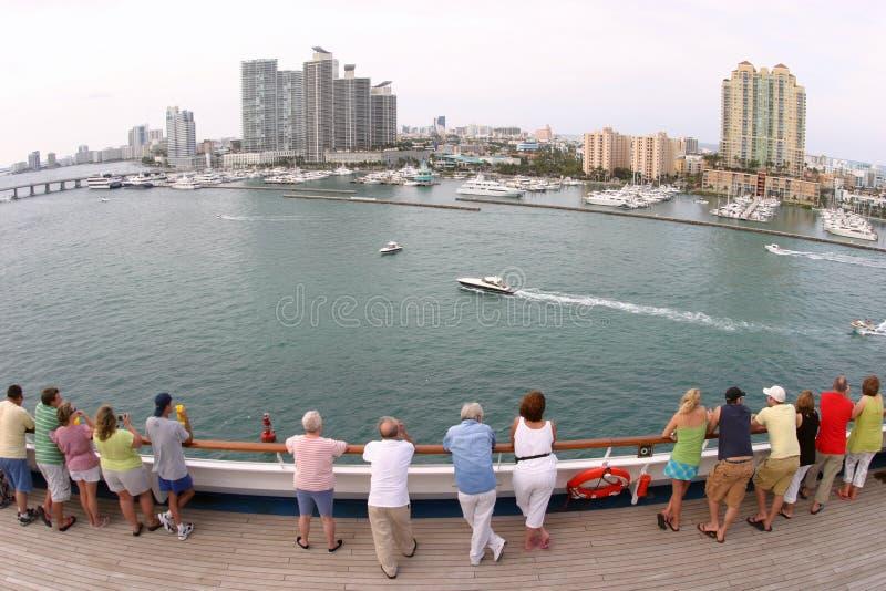 Miami grand-angulaire photographie stock