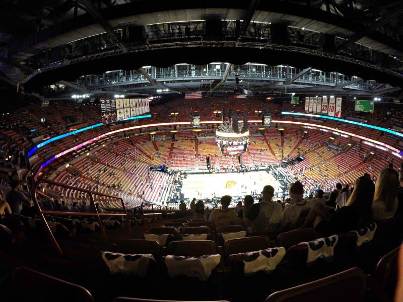 Miami Heat Stadion stockbilder