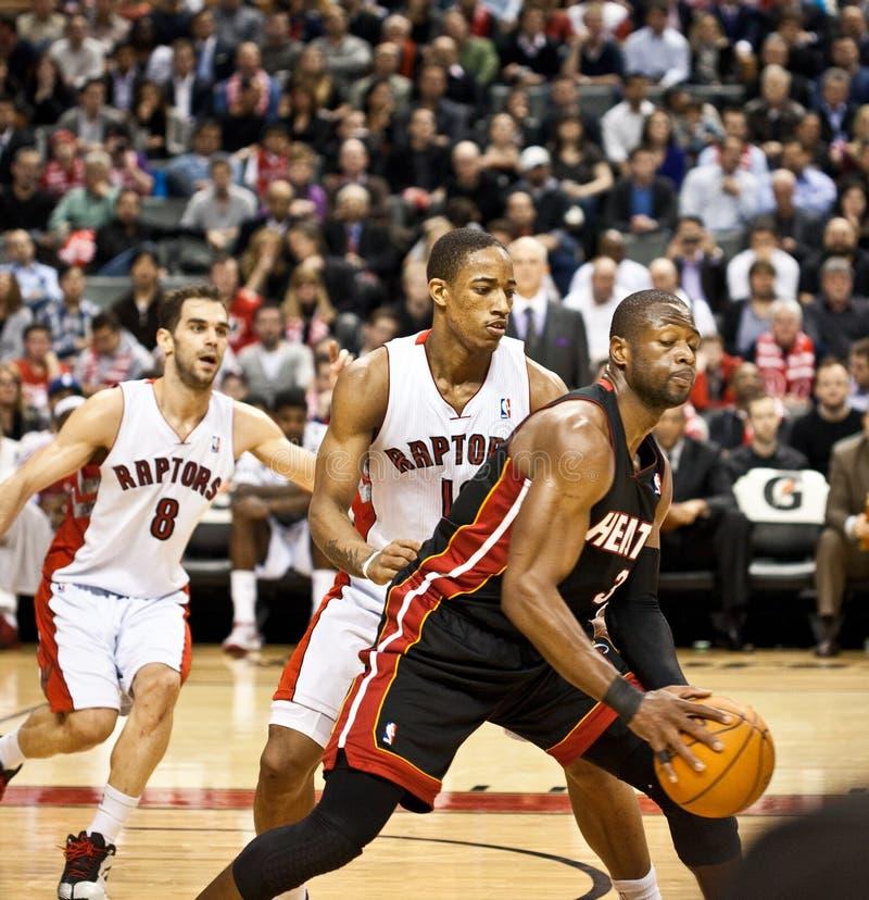 Miami Heat vs. Toronto Raptors stock photos