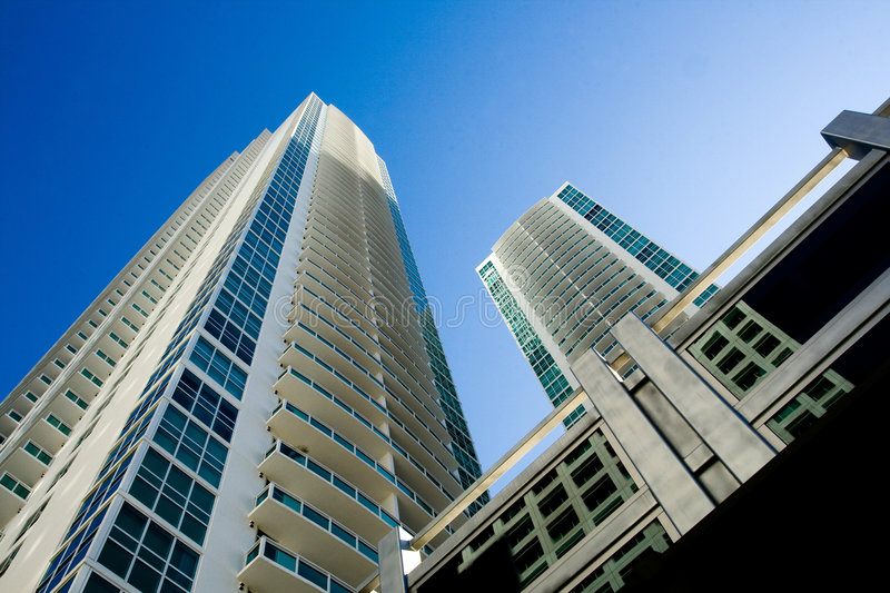 Miami High Rise Building stock images