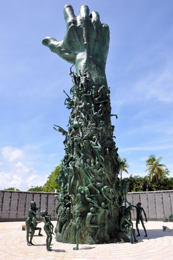 Miami Holocaust Memorial. Image of the main sculpture at the Miami Holocaust Memorial stock photography