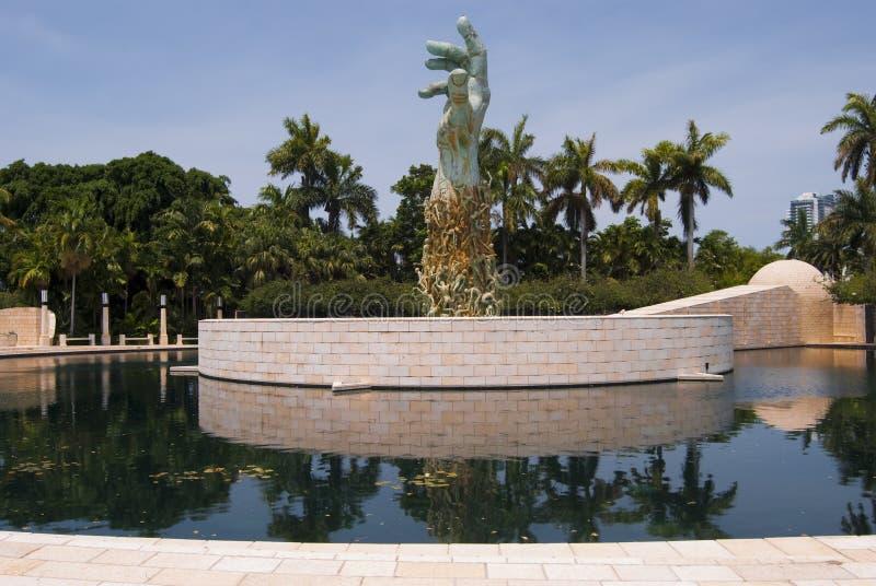 Miami Holocaust memorial wide stock photo