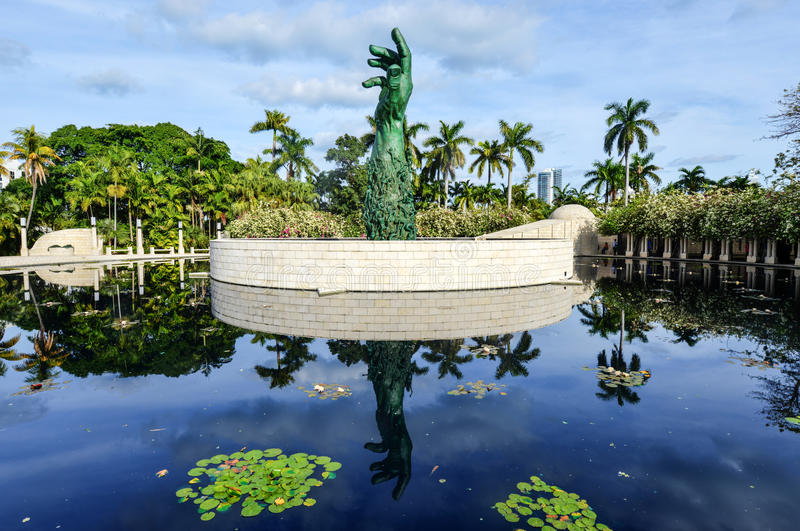 Miami holokausta pomnik obraz royalty free