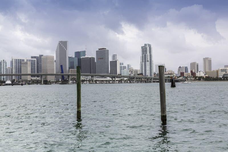 Miami horisont fotografering för bildbyråer