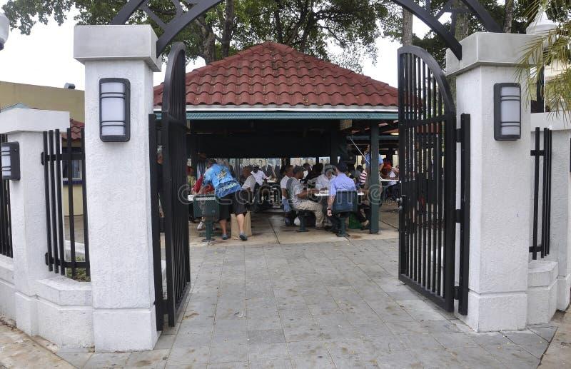 Miami, il 9 agosto: Piccola Havana Community Domino Park da Miami in Florida U.S.A. fotografie stock libere da diritti