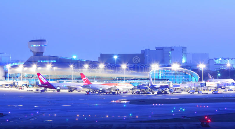 Miami Iternational Airport aircraft stock image