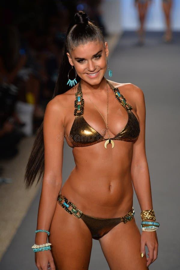 Miami July 19 Model Walks Runway At The Beach Bunny