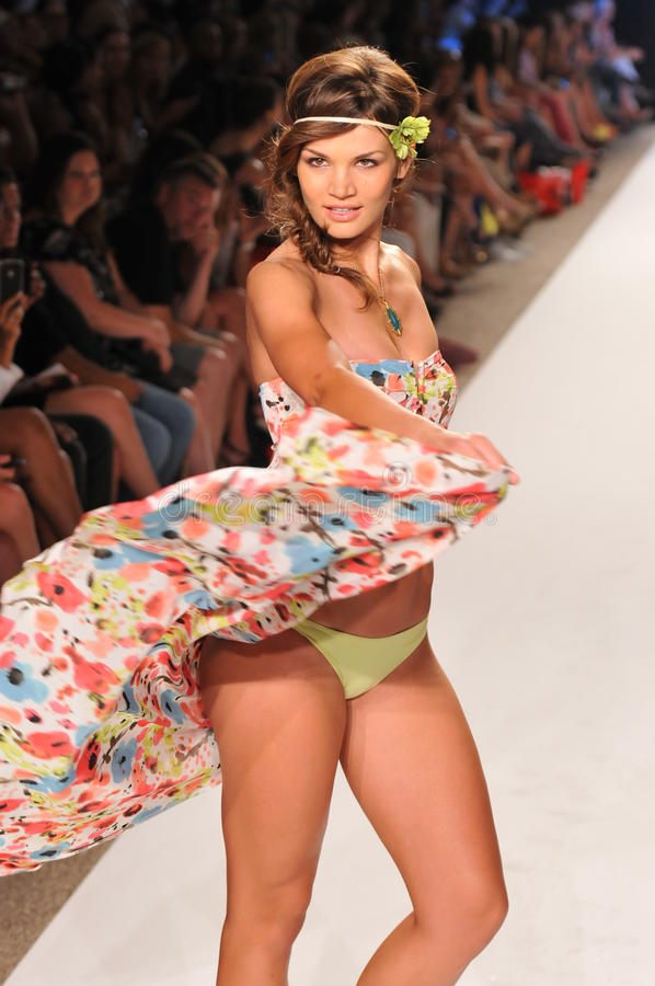 Download MIAMI - JULY 14: Model Walks Runway At The L Space Swimsuit Collection For Spring/ Summer 2012 Editorial Photography - Image: 29926757