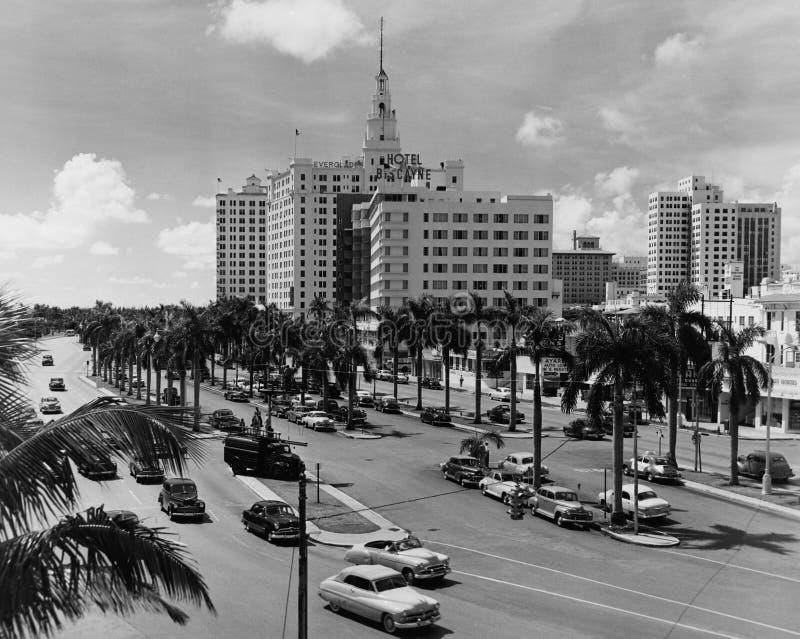 Miami, la Floride, vers 1951 (toutes les personnes représentées ne sont pas plus long vivantes et aucun domaine n'existe Garantie images stock