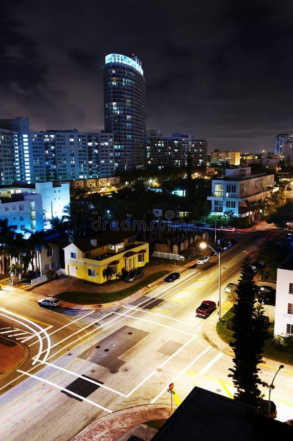 Miami la nuit photos stock
