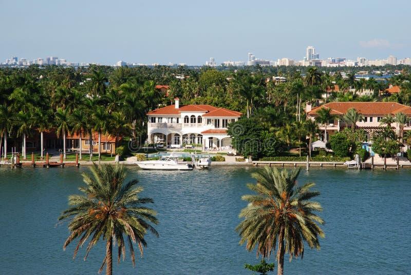 Miami-Landhäuser stockfotos