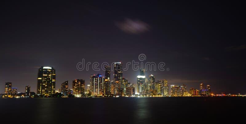 Miami les lumières magiques de ville photos stock