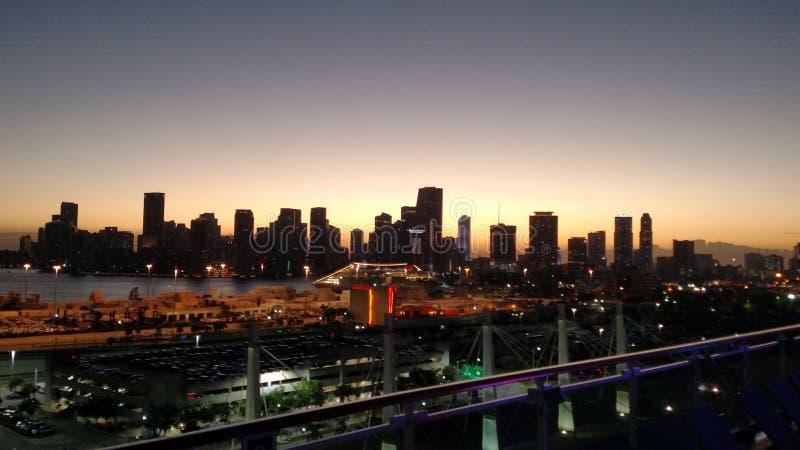 Miami linia horyzontu 1 zdjęcia royalty free