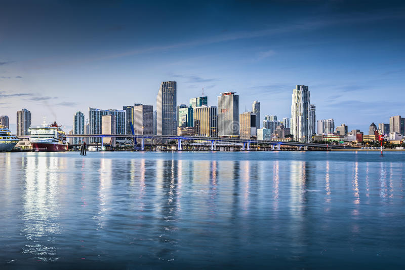 Miami linia horyzontu fotografia stock