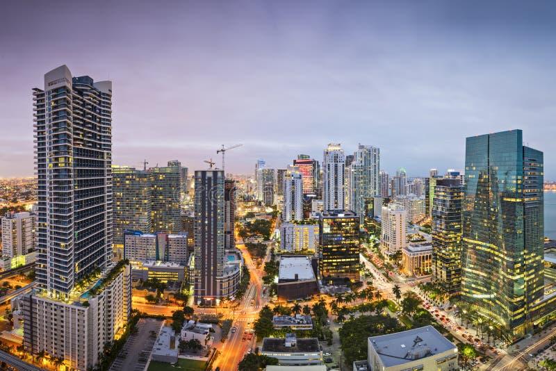 Miami linia horyzontu zdjęcie stock